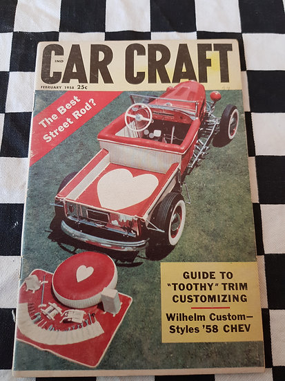 (LITTLE PAGES) CAR CRAFT  magazine february 1958