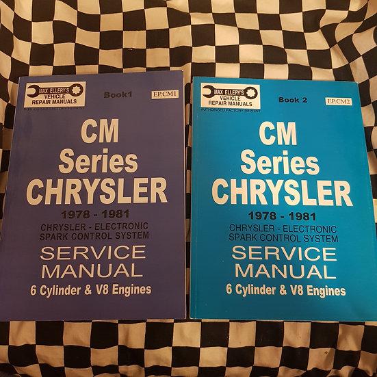 Ellerys CM Chrysler 1978-81 6cyl & V8 2 volume Workshop Manual Set AS NEW