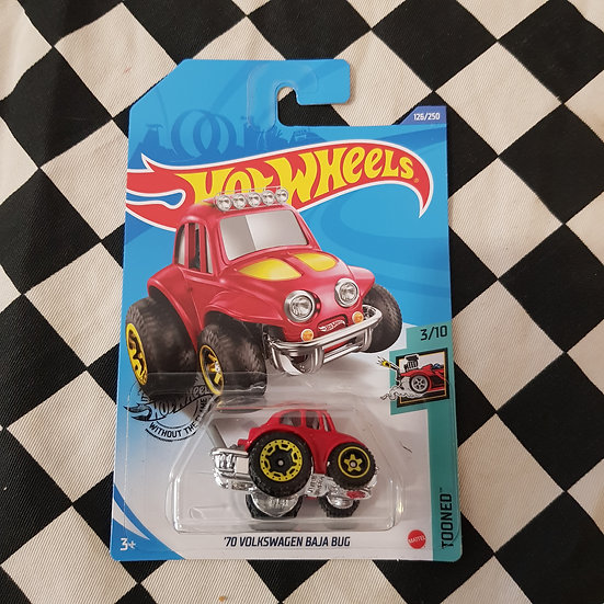 Hot Wheels 2020 Tooned 70 Volkswagen Baja Bug Vw Beetle RED