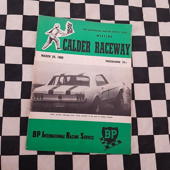 Calder Raceway Motor Racing Program March 24 1968
