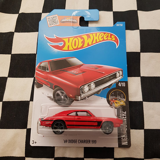 Hot Wheels 2015 Nightburnerz 69 Dodge Charger 500 Red