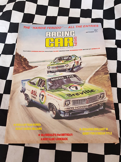 RACING CAR NEWS 9/78 A9X Torana