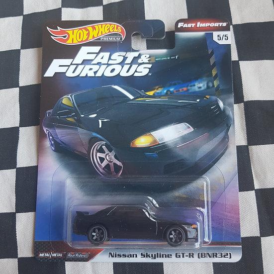 Hot Wheels Premium Fast & Furious Fast Imports Nissan Skyline GTR BNR32