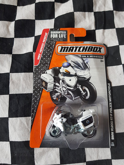 Matchbox 2014 BMW R1200 RT-P Police Motorcycle