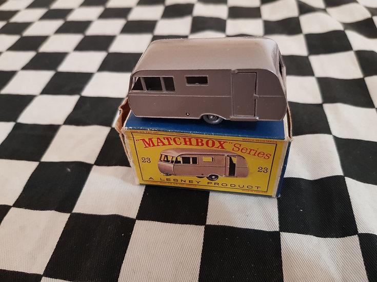 Vintage Lesney Caravan Trailer Boxed As Found
