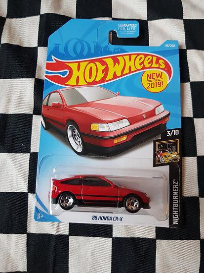 Hot Wheels 2019 NightBurnerz  88 Honda CRX Red