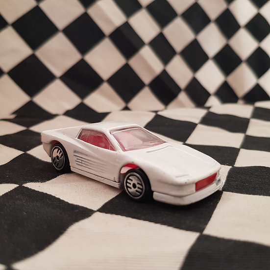 Hot Wheels Loose Ferrari Testarossa White Ultra Hots Red/white Interior