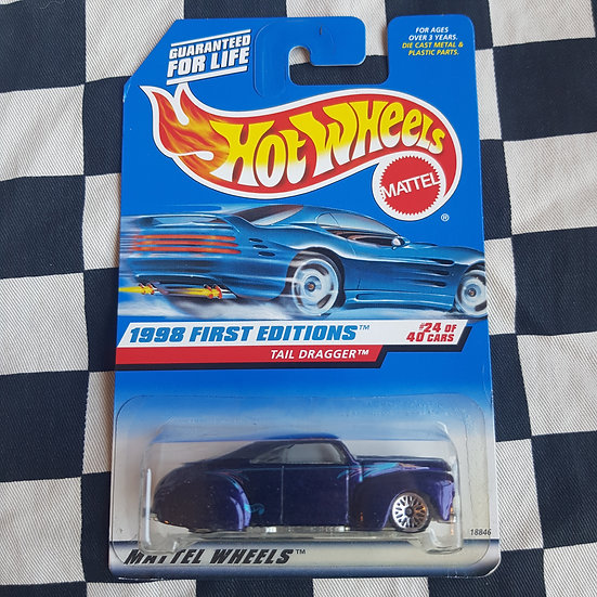Hot Wheels 1998 First Editions Tail Dragger 41 Ford Kustom Lead Sled Purple
