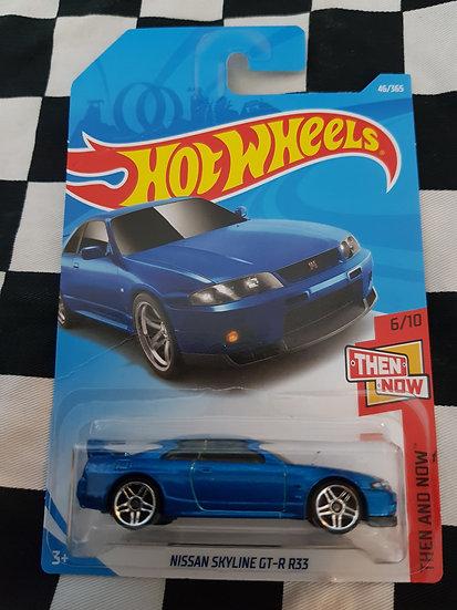 Hot Wheels NISSAN SKYLINE GTR R35 blue