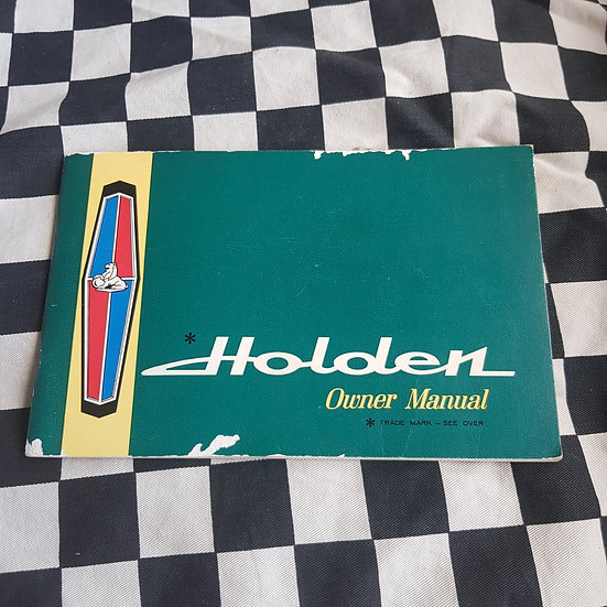 Genuine HR Holden Owners Manual