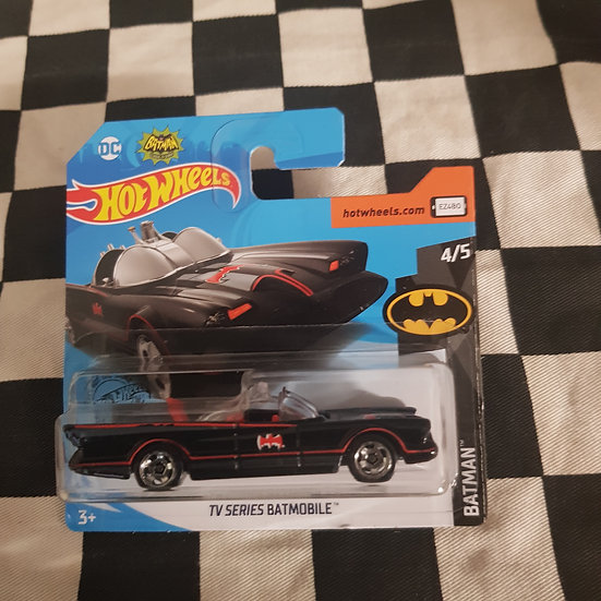 Hot Wheels 2020 Batman TV Series Batmobile Short Card