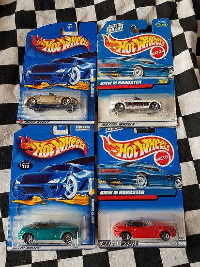 Hot Wheels BMW M /Z3 Roadster Collection of 4 cars