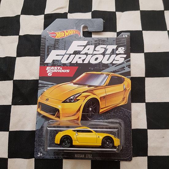 Hot Wheels Fast & Furious 6 Nissan 370z Yellow
