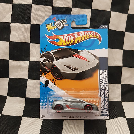 Hot Wheels 2012 Stars Lamborghini Gallarardo LP 570-4 Superleggera Silver