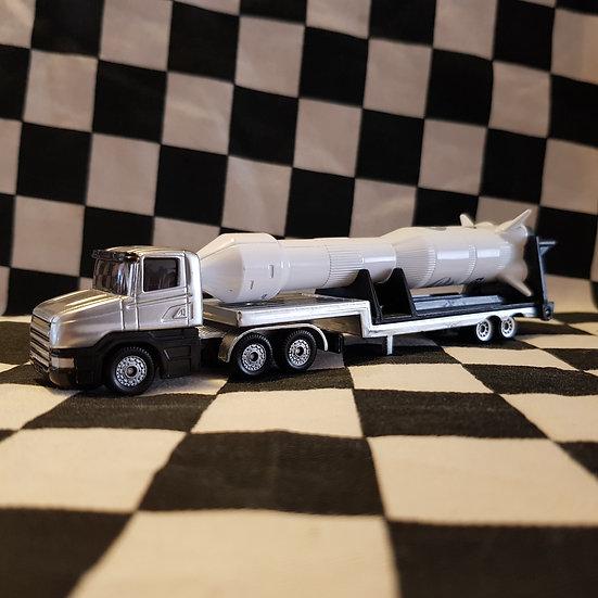 Siku Low Loader Truck with Rocket 1:64