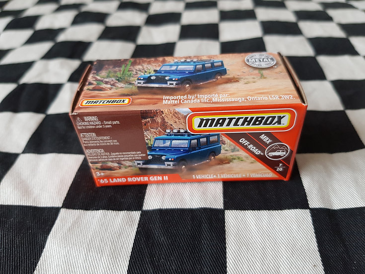 Matchbox 65 Land Rover Gen 2 Blue