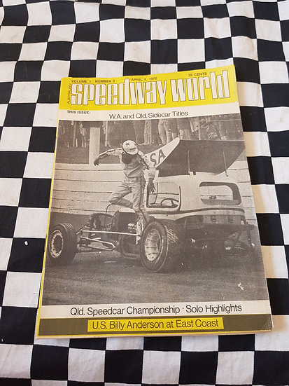 Australian Speedway World Volume 1 #2 April 4 1970