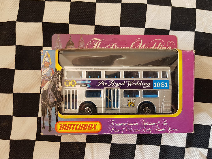 Matchbox Super Kings Krw15 The Londoner Double Decker Bus 1981 Royal Wedding