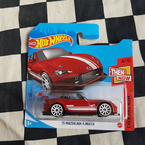 Hot Wheels 2021 Then and Now 15 Mazda MX5 Miata Red Short Card
