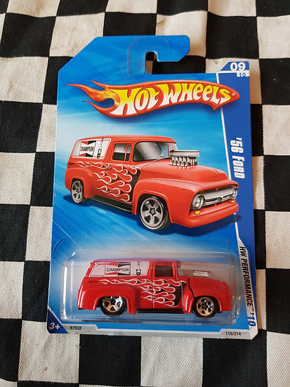Hot Wheels 2010 Hw Performance CHAMPION 56 Ford Truck F100 Van RED