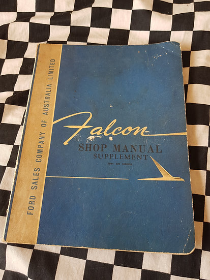 1964 XM FORD FALCON Workshop Manual Supplement