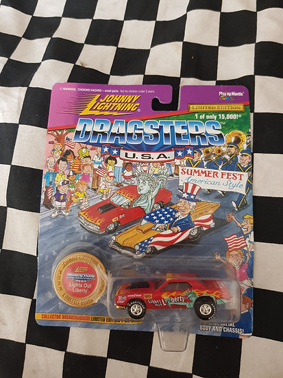 Johnny Lightning DRAGSTERS Lights Out Liberty Barracuda