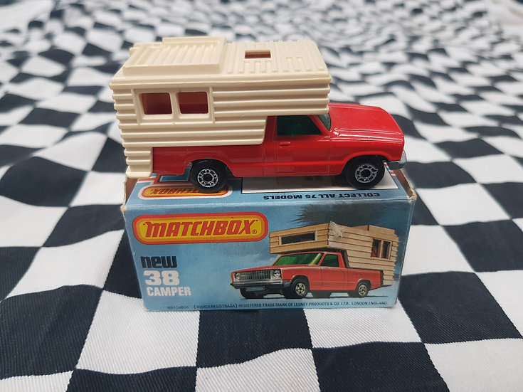 Matchbox #38 Camper Red in Original Box