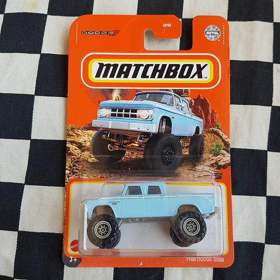 Matchbox 1968 Dodge D200 Blue
