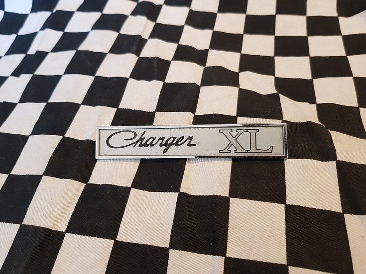 Original Valiant Charger XL console badge