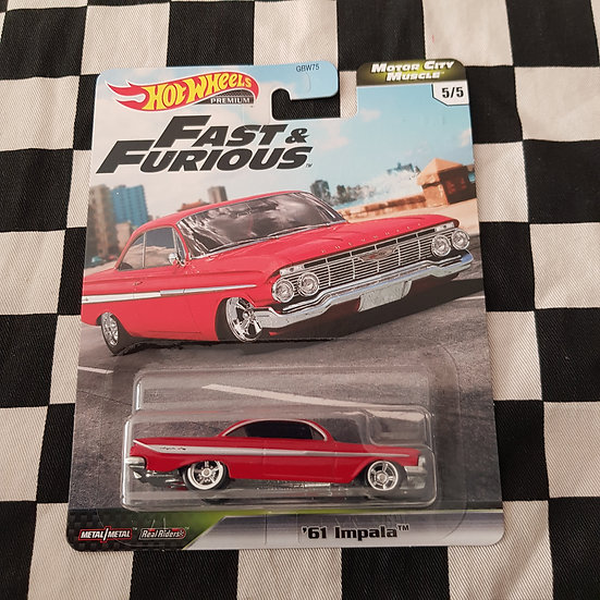 Hot Wheels Fast and Furious Motor City Muscle 61 Impala