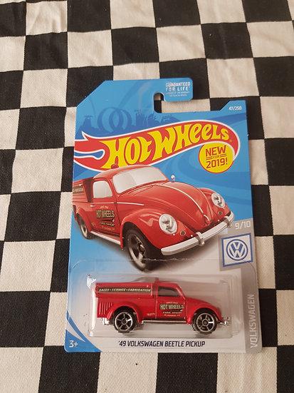 Hot Wheels 2019 Volkswagens 49 VW Beetle Pickup Red