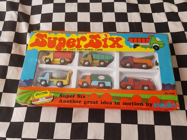 Playart Super 6 Truck Set Kool 1960's 70's