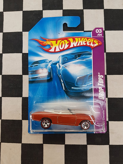 Hot Wheels 2007 Drop Tops 70 Chevelle Convertible REDLINE VARIATION