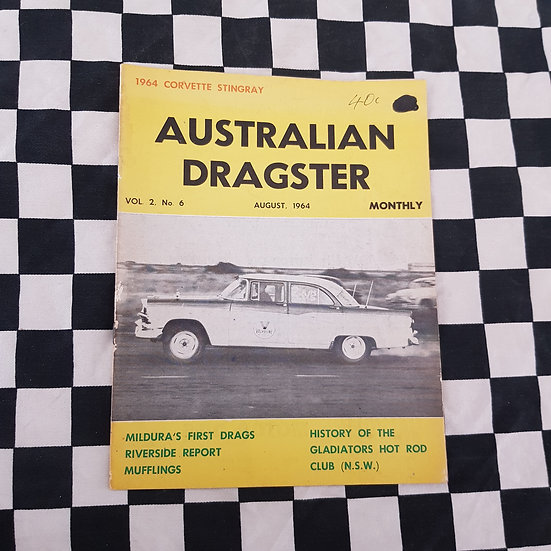 Australian Dragster Vol 2 No 6 August 1964