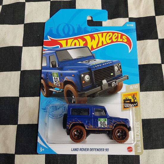 Hot Wheels 2021 Baja Blazers Land Rover Defender 90  Blue