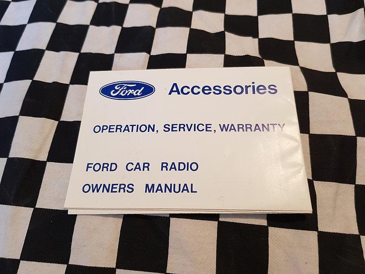 NOS Ford Falcon Original Superfringe Radio Owner Manual/ Warranty