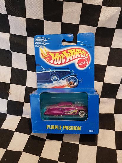 Vintage Hot Wheels 1991 Blue Boxed Purple Passion