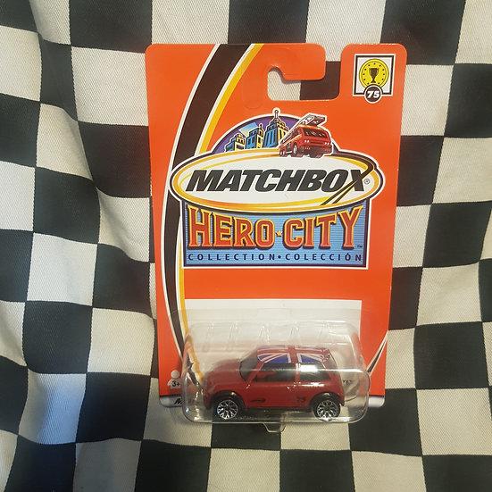 Matchbox Hero City New Mini Cooper S Red Union Jack Roof
