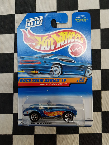Hot Wheels 1997 Race Team IV 4 Shelby Cobra 427 s/c