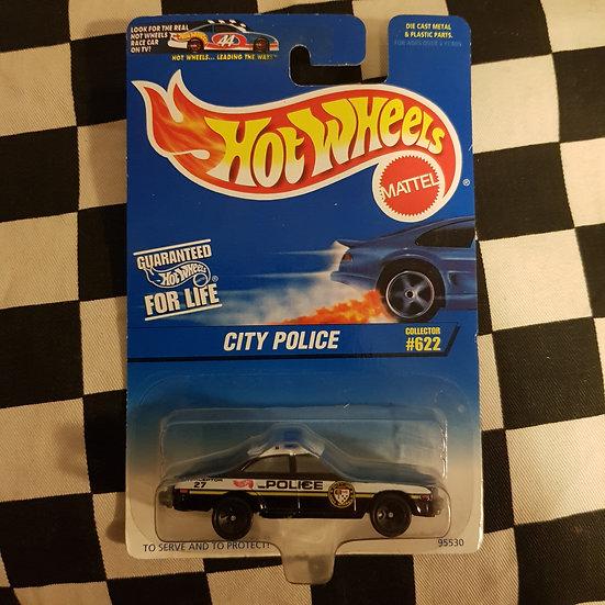 Hot Wheels 1996 #622 City Police Cruiser Black n White