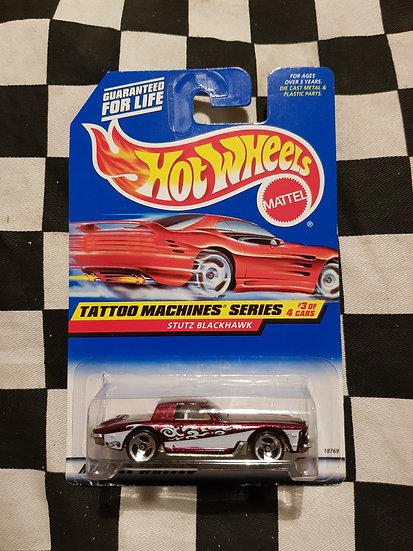 Hot Wheels 1997 Tattoo Machine Series STUTZ BLACKHAWK