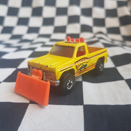 Vintage loose Hot Wheels Blackwall Power Plower Pickup Truck Yellow
