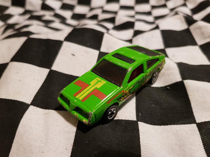 RARE Hot Wheels Pontiac J2000 Green w Dragon Blackwalls