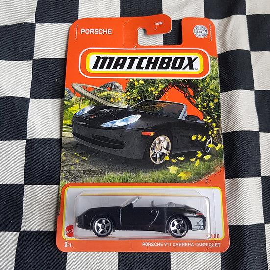 Matchbox 2021 Porsche 911 Carrera Cabriolet Black