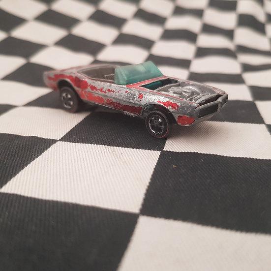 Vintage Hot Wheels Redline Custom Firebird Red, Brown Interior