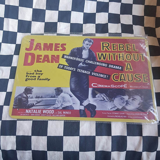 Tin Sign Repro 20x30 Rebel Without a Cause