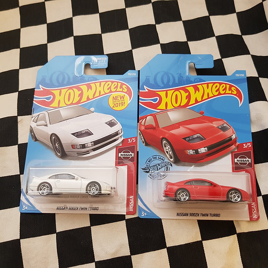 Hot Wheels 2019 Nissan Series 300ZX Twin Turbo Choice of Red/White