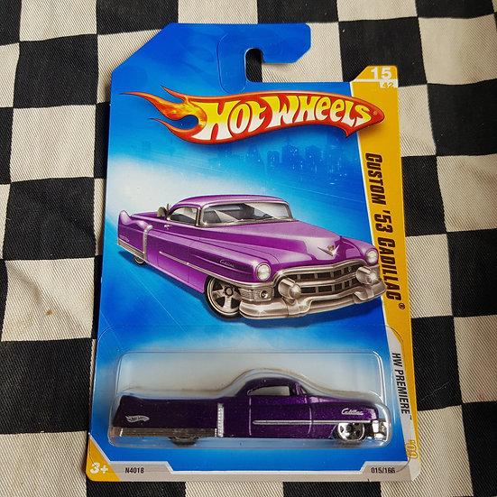 Hot Wheels 2009 First Edition Custom 53 Caditac Purple Flower Car Hearse Ute