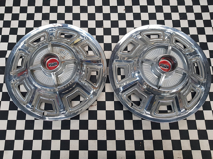 Kustom Hubcaps Early Ford Fairlane X2