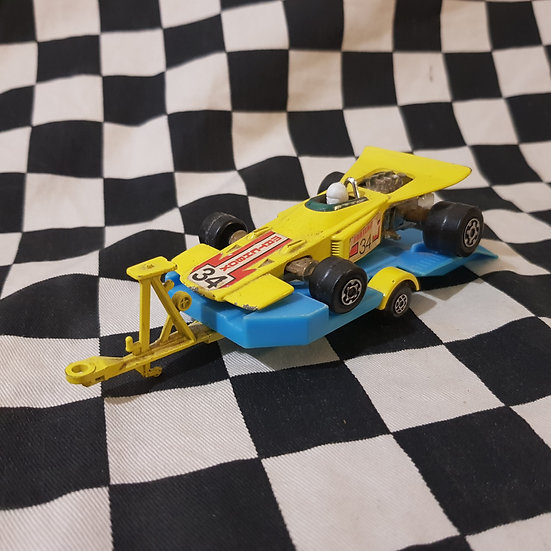 Matchbox Speed Kings Thunderclap Racing Car & King Size Trailer